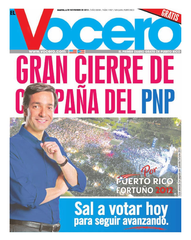 Edicion 6 de noviembre de 2012 by El Vocero de Puerto Rico - issuu