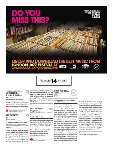 London Jazz Festival 2012 Concert Hall Programme by EFG