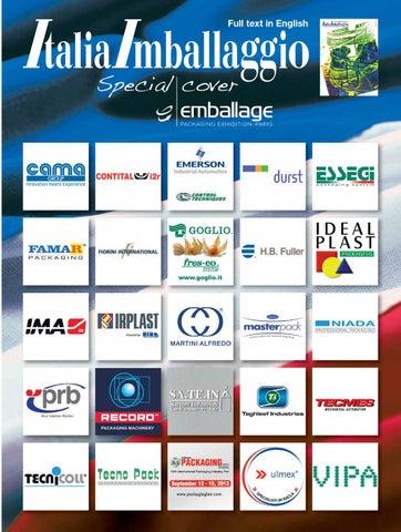 795832a83d30 Italia Imballaggio Emballage 11 12 2012 by Edizioni Dativo - issuu