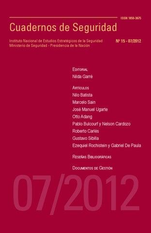 Cuadernos de Seguridad N° 15 by Ministerio de Seguridad de la ...