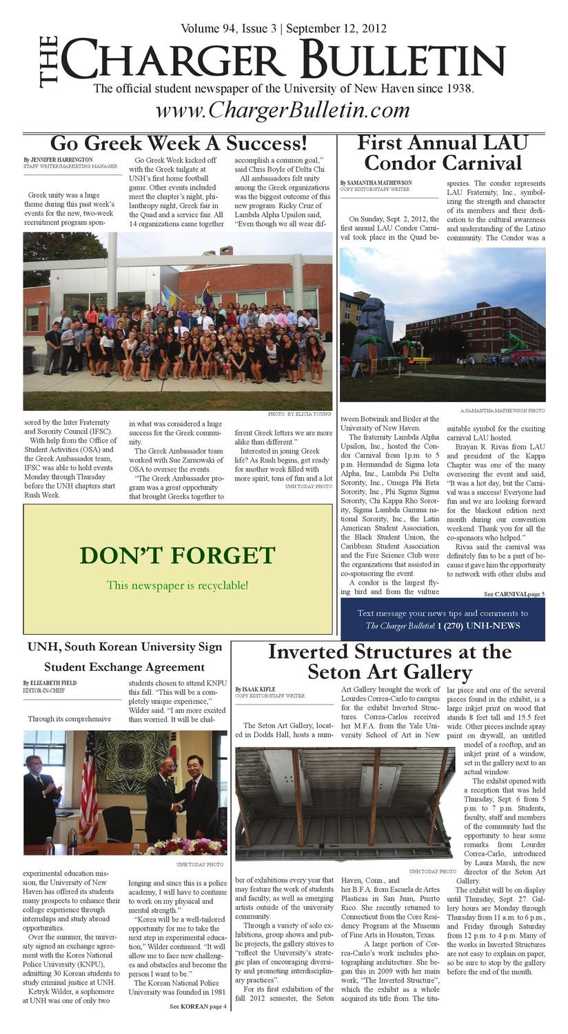 September 12, 2012 by The Charger Bulletin - issuu