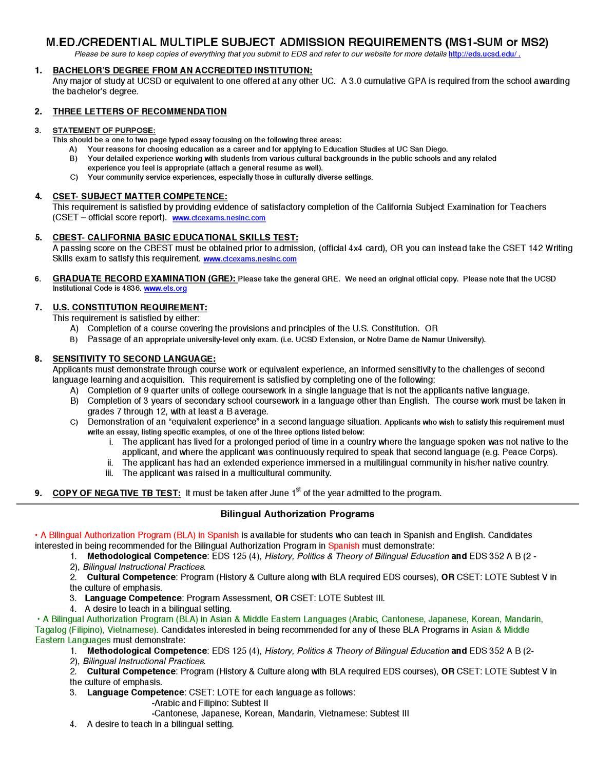 Multiple Subject Brochure by melissa wolf - issuu