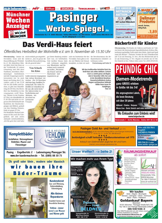 KW 45-2012 by Wochenanzeiger Medien GmbH - issuu