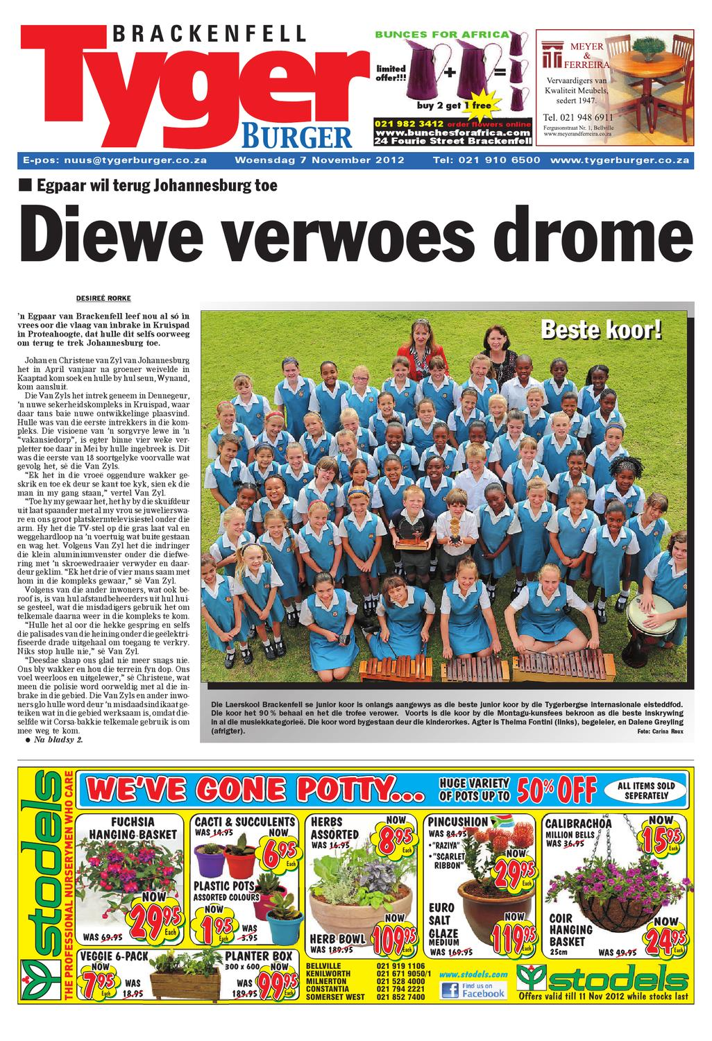 tygerburger brackenfell 7 nov 2012 by tygerburger newspaper - issuu - Der Vertikale Garten Live Screen Danielle Trofe