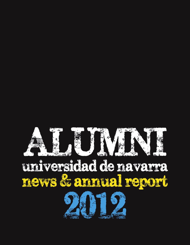 Alumni News Annual Report 2012 By Alumni Universidad De Navarra  # Muebles Tudela Cochabamba
