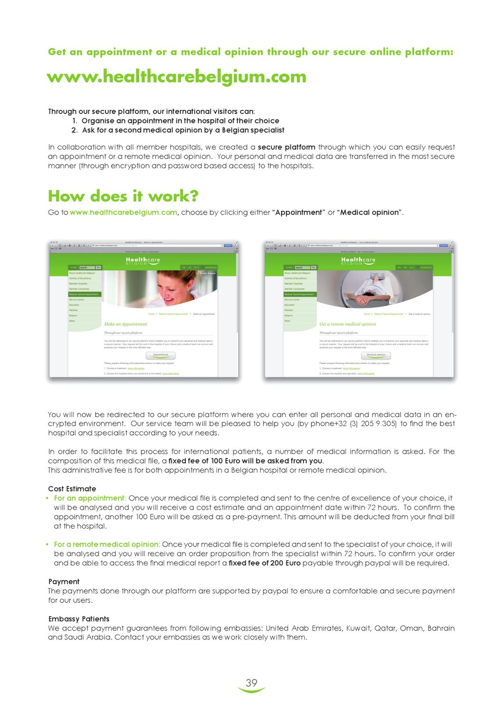 Healthcare Belgium Brochure by HEALTHCARE BELGIUM - issuu
