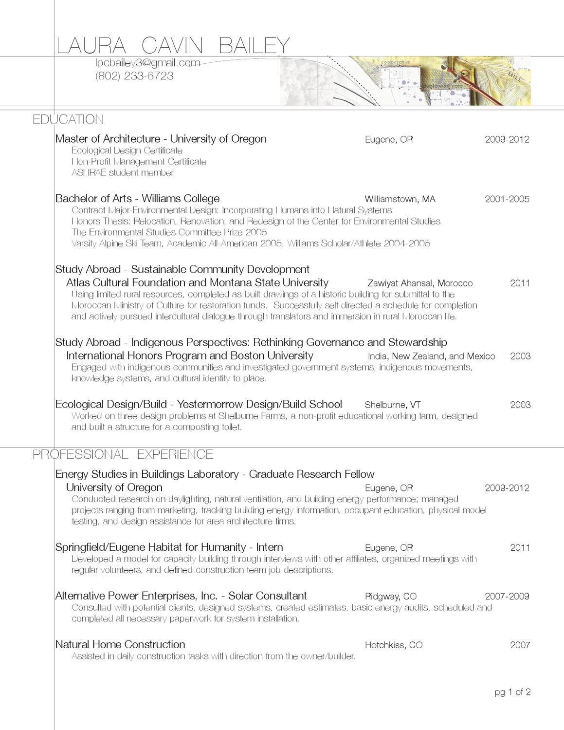 resume by laura cavin bailey