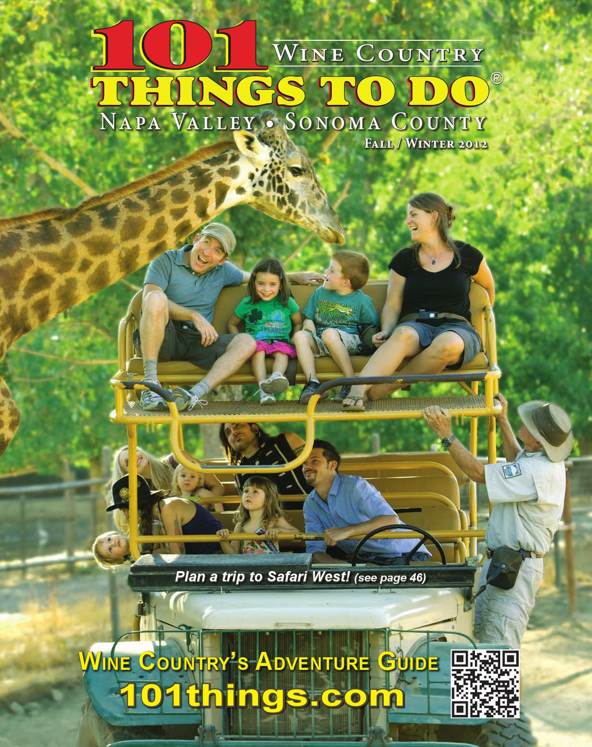 101 Things To Do Sonoma and Napa Counties 2012 by 101 Things