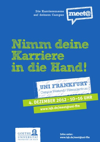 Messeguide zur meet@uni-frankfurt WS 2012 by IQB Career Services AG ...
