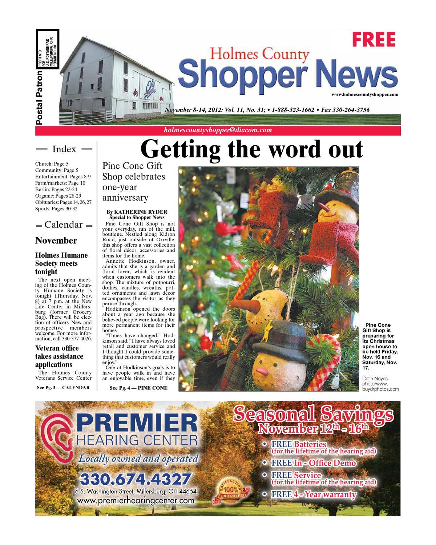 2d89c07e2ef Holmes County Shopper, Nov. 8, 2012 by GateHouse Media NEO - issuu