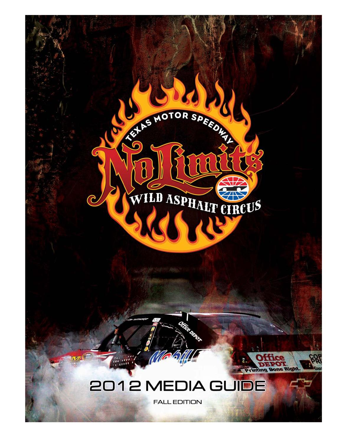2012 Texas Motor Speedway Media Guide Fall Edition By Dave