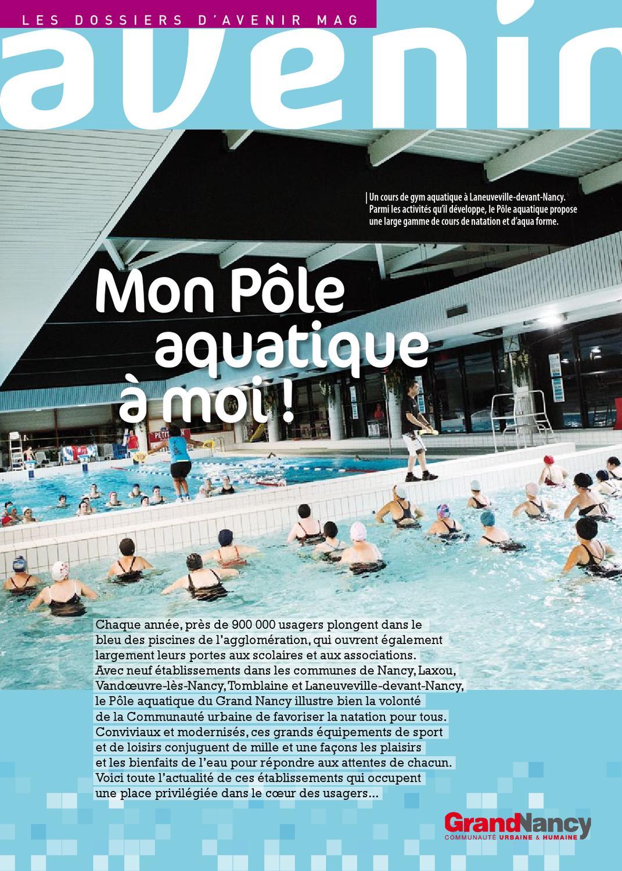 Grand nancy suppl ment avenir magazine sp cial pole for Pole aquatique nancy