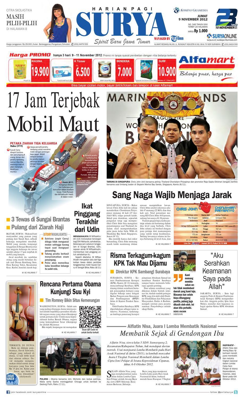 E Paper Surya Edisi 9 November 2012 By Harian Issuu Kue Ulat Sutra Febby Cookies Pal