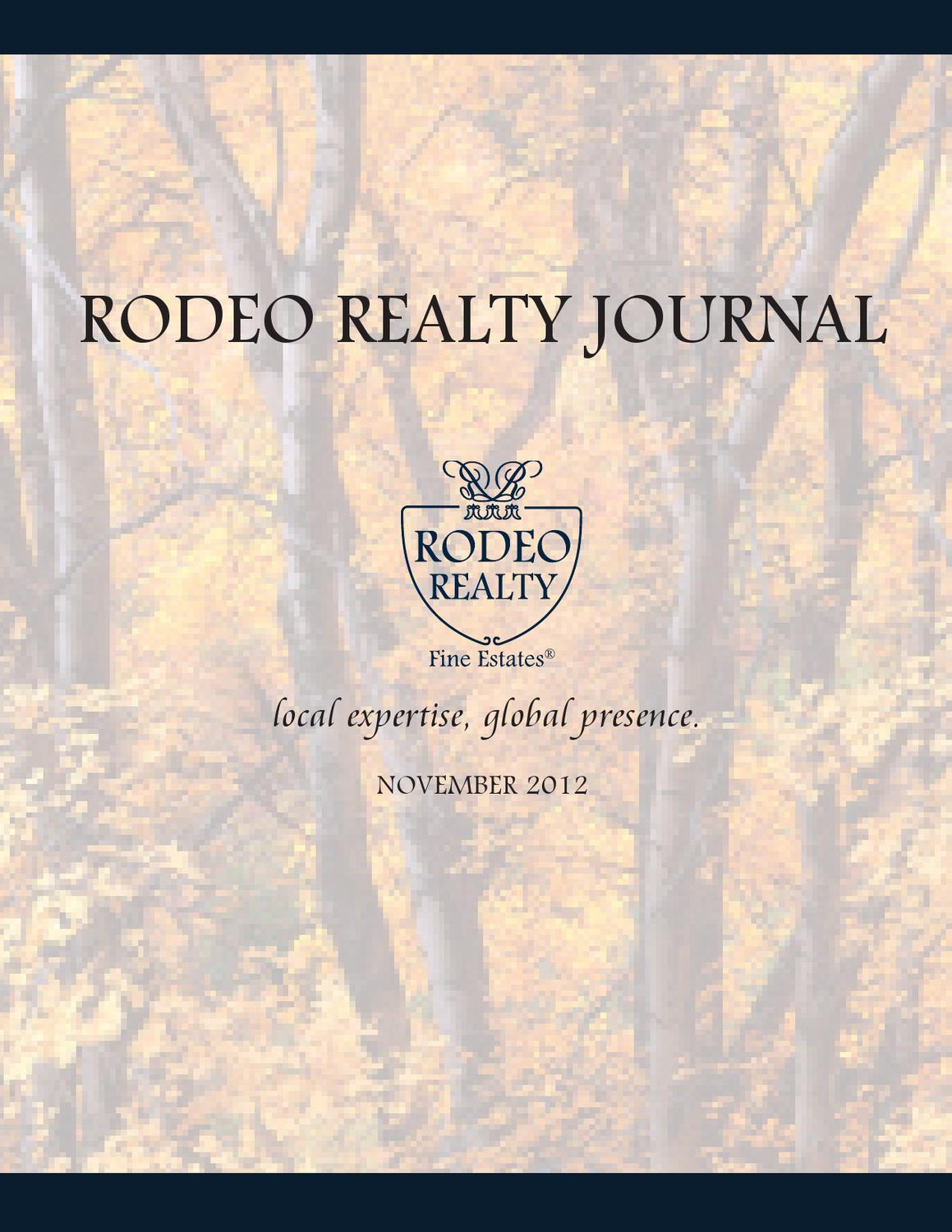 Rodeo Realty November Magazine By Rodeo Realty Issuu