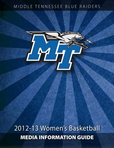 2012-13 Middle Tennessee Women s Basketball Media Information Guide ... 3f754e3d4