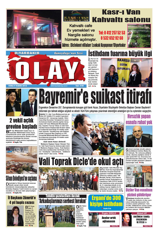 09 11 2012 Gazete Sayfalari By Diyarbakir Olaygazetesi Issuu