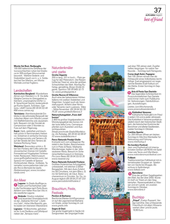 Alpe Adria Magazin reisen mit Genuss Nr. 6, Oktober 2008
