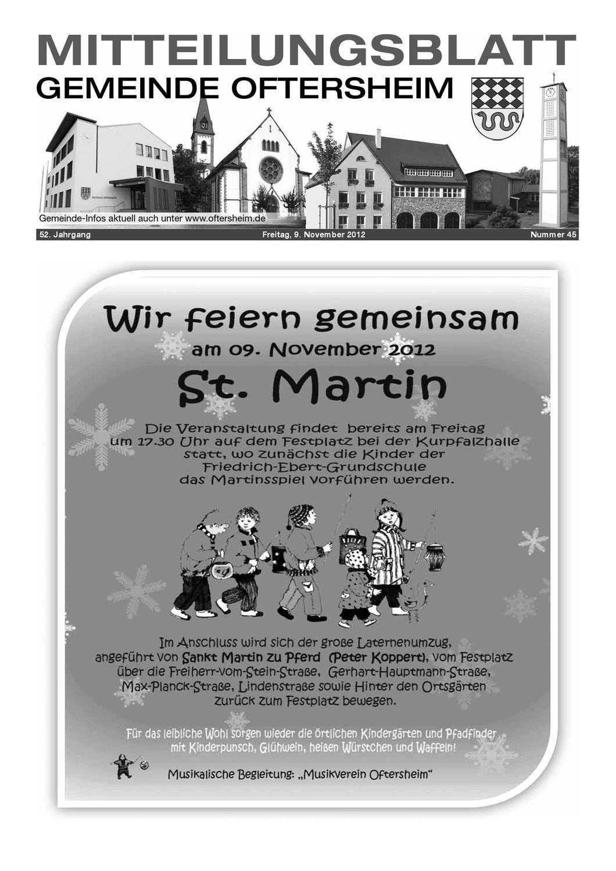 2012-45 Mitteilungsblatt - Gemeinde Oftersheim by Gemeinde ...
