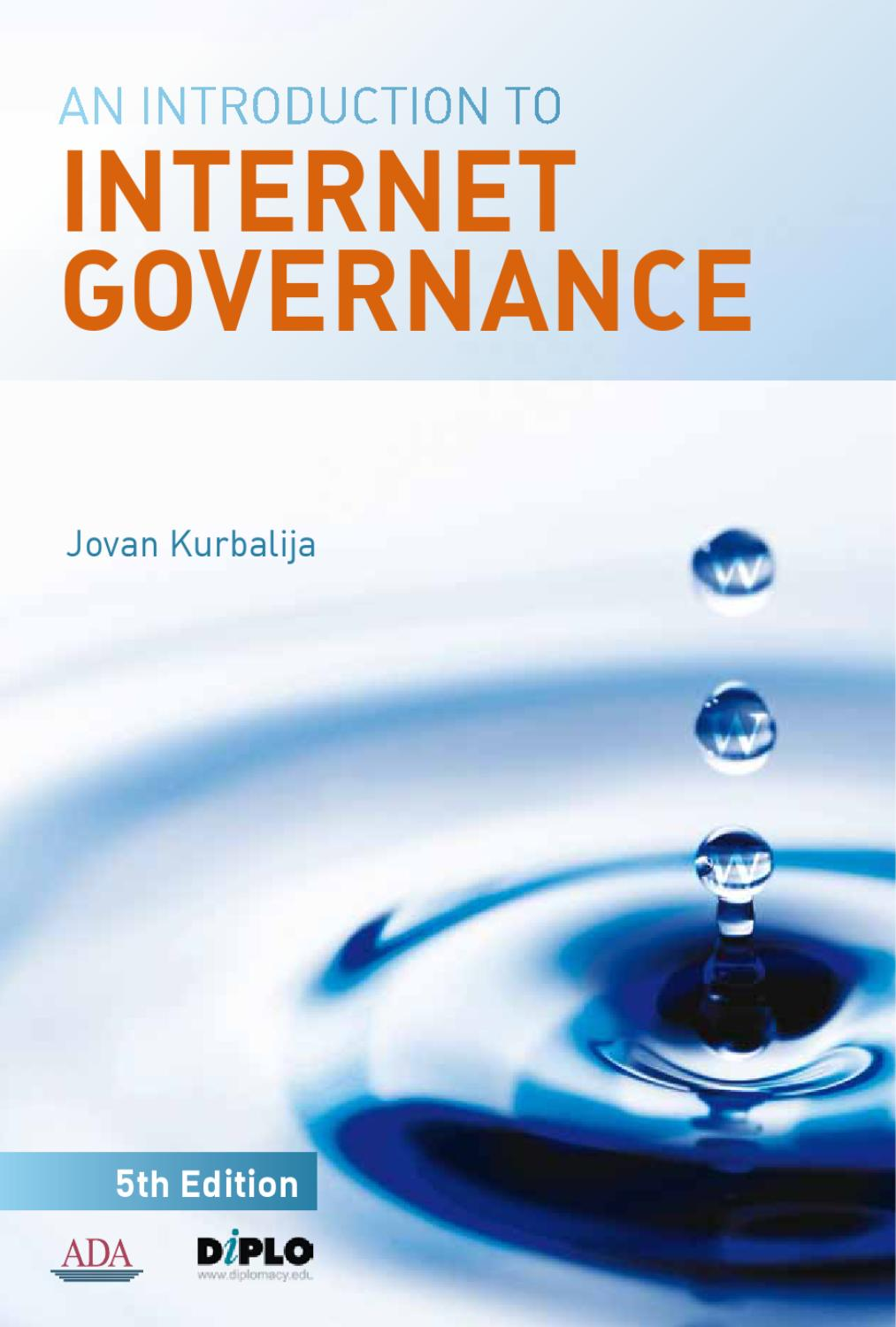 An Introduction to Internet Governance, 5th Edition by
