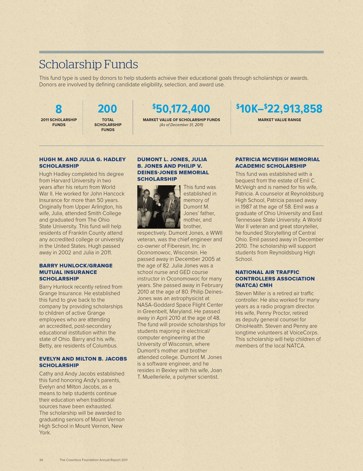 The Columbus Foundation 2011 Annual Report by The Columbus