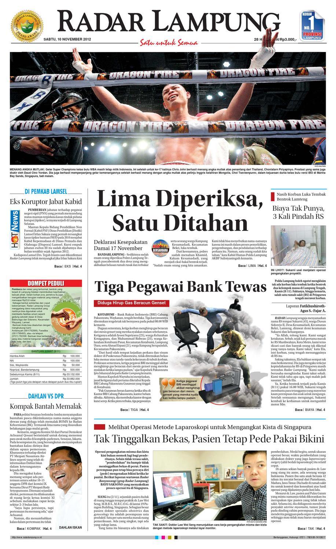 Radar Lampung Sabtu 10 November 2012 By Ayep Kancee Issuu Produk Ukm Bumn Mumtaz Cane 93 Original