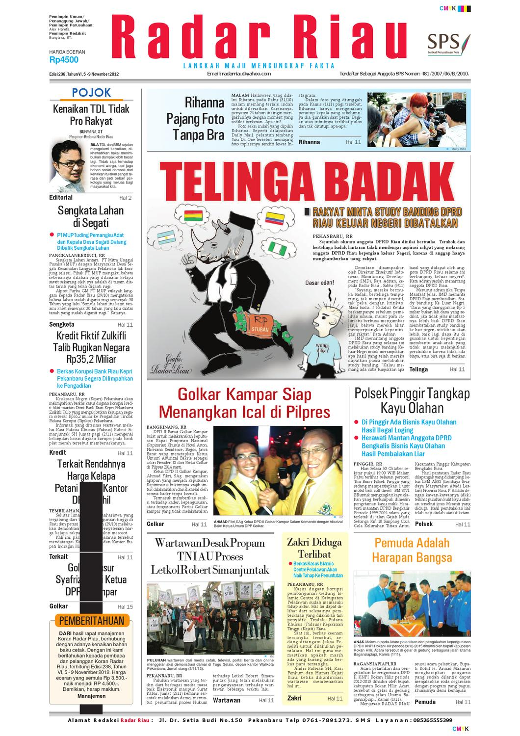 RADAR RIAU EDISI 238 5-9 NOVEMBER 2012 by RADAR RIAU - issuu 4c773d1768