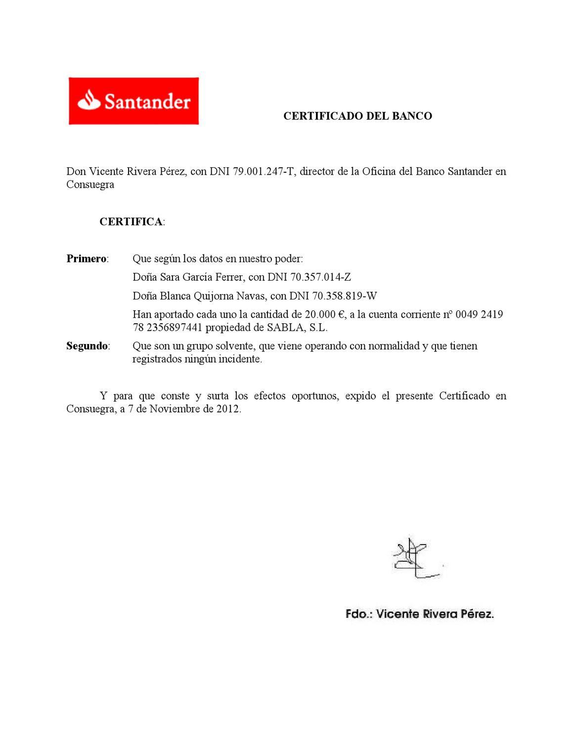 certificado del banco by sara garc a ferrer issuu
