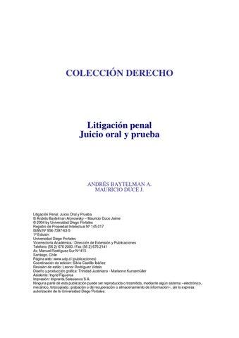 Tecnicas de litigacion oral by sayari grupo estudios issuu page 1 coleccin derecho litigacin penal juicio oral ccuart Gallery