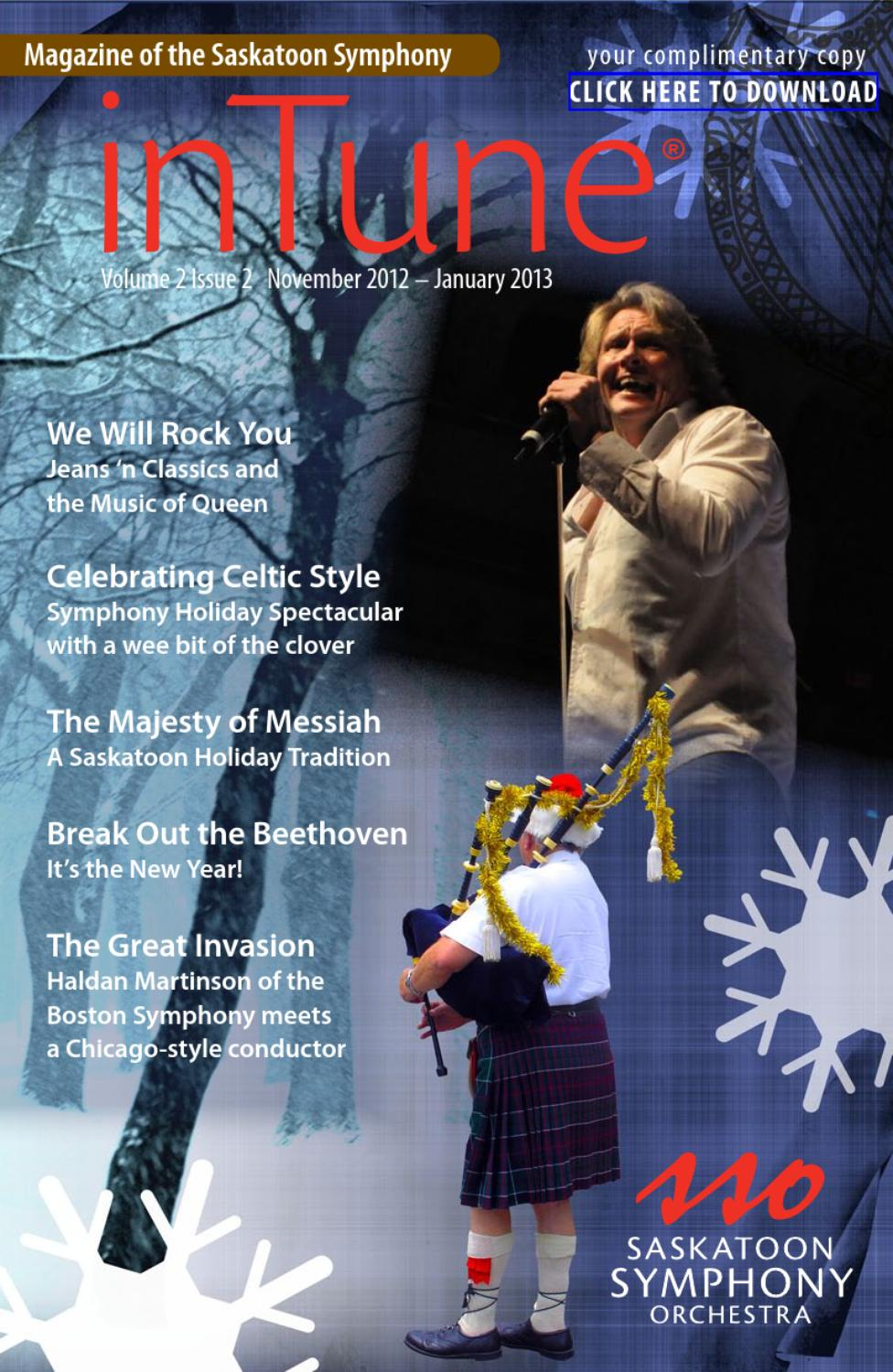 Vol. 2, Issue 2, inTune - The Magazine of the Saskatoon Symphony by ...