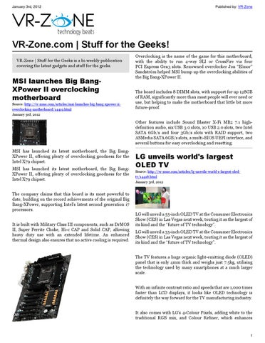 VR-Zone Tech News for the Geeks Jan 2012 Issue by VR Media Pte  Ltd