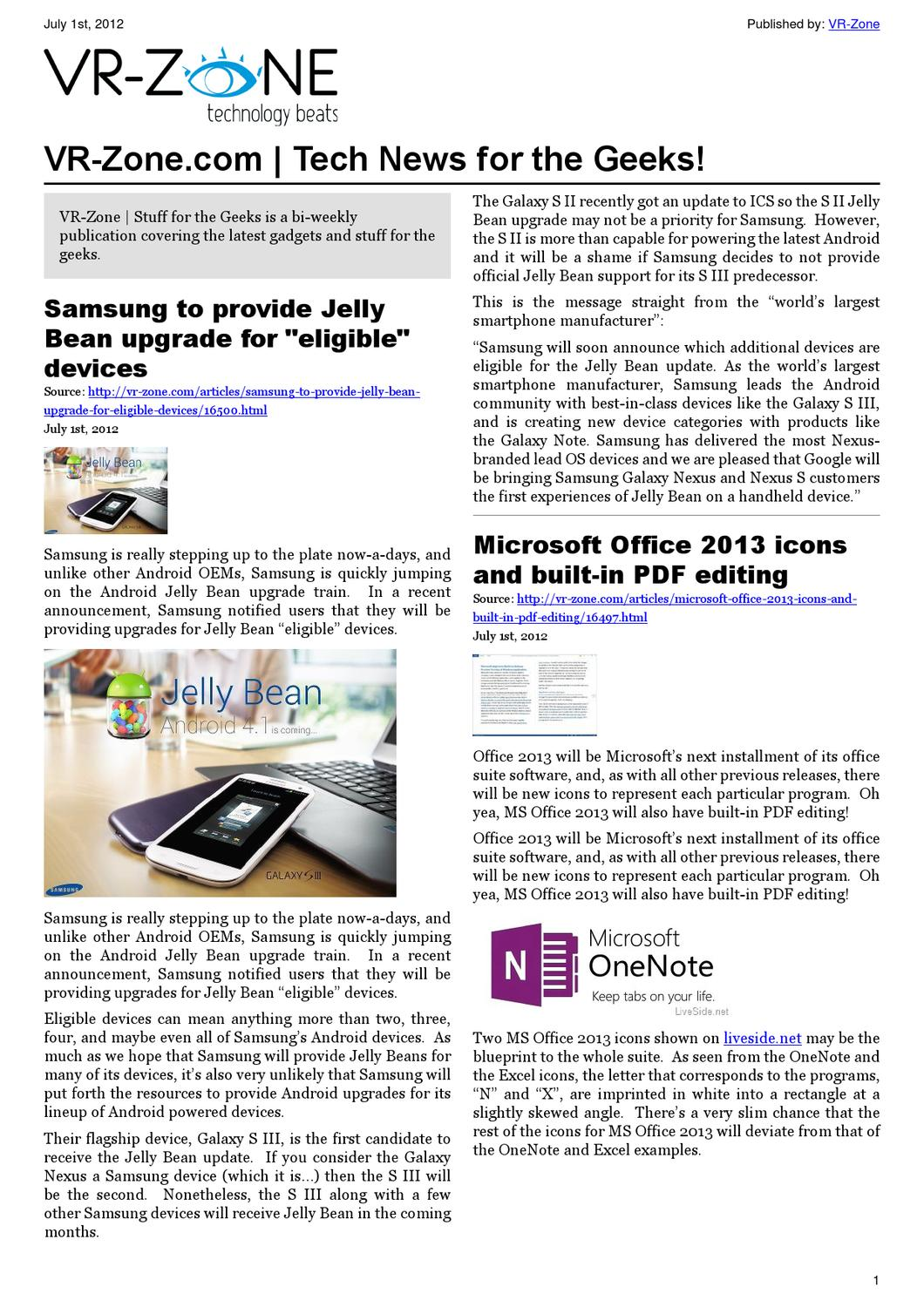 Vr Zone Tech News For The Geeks Jul 2012 Issue By Media Pte Ltd Displaying 16gt Images Current Electricity Kids Issuu