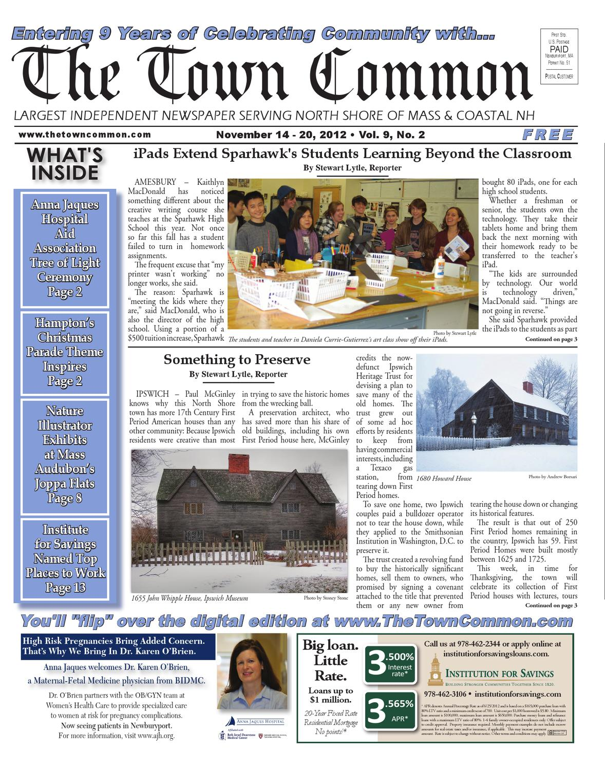 North Andover Pac Presents Come And Ask >> Ttc 11 14 12 Vol 9 No 2 P1 20 Ver1 Pdf By The Town Common Issuu
