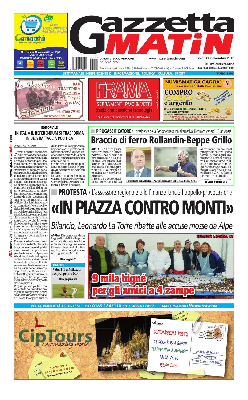 Gazzetta Matin del 12 novembre by Luca Mercanti - issuu d9ffc3a2ec8