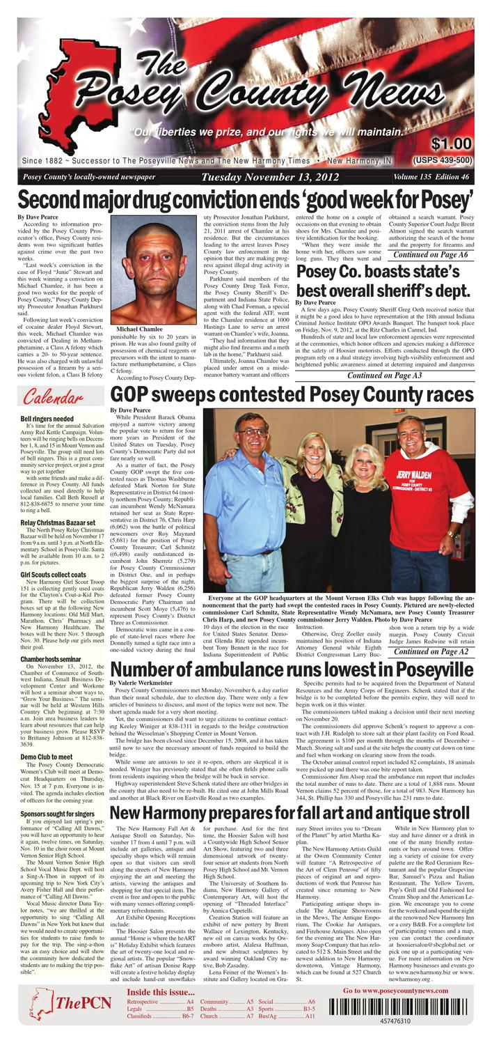 November 13, 2012  The Posey County News By The Posey County News  Issuu