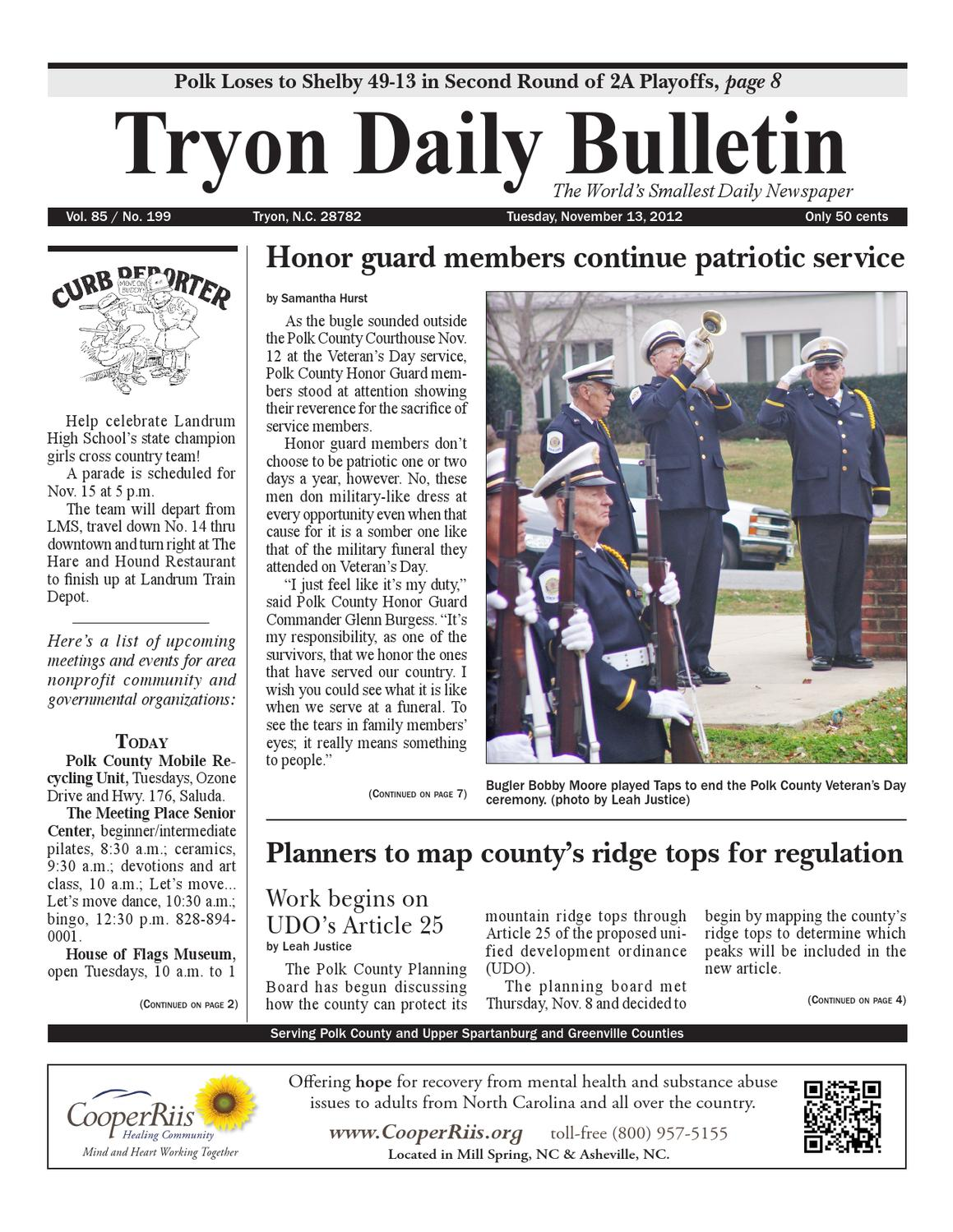 c18d9131e7be 11-13-12 Bulletin by Tryon Daily Bulletin - issuu