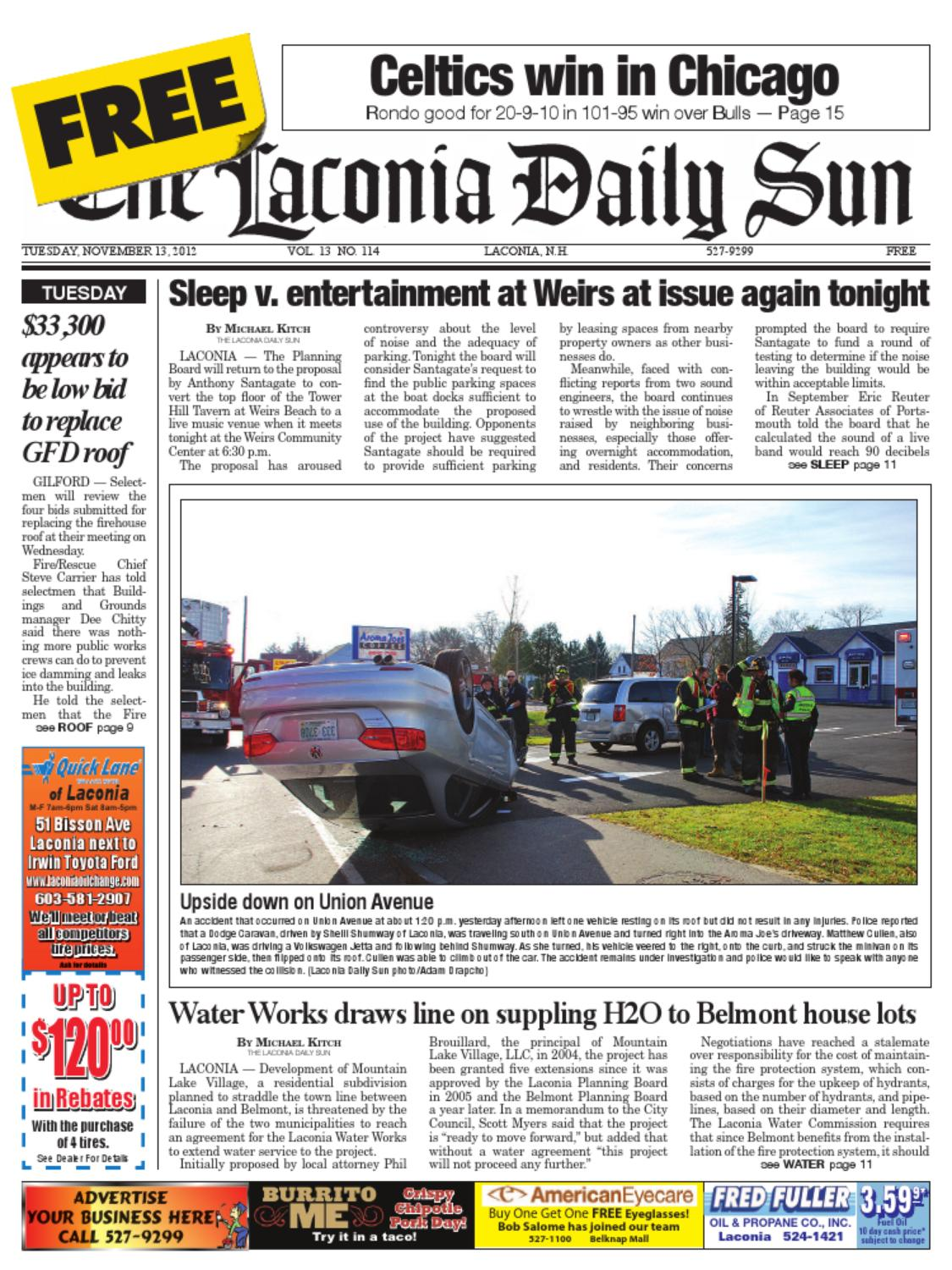 The Laconia Daily Sun November 13 2012 By Issuu Ford Transit Forum O View Topic Jvc Stereo Head Unit With Steering