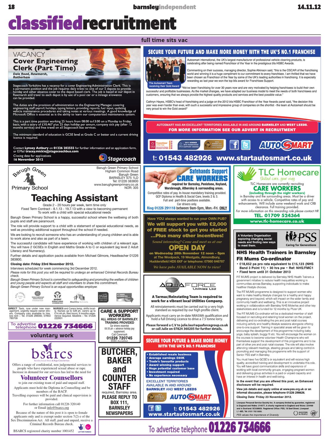Barnsley Independent - 14th November 2012 (Week 46) by Barnsley