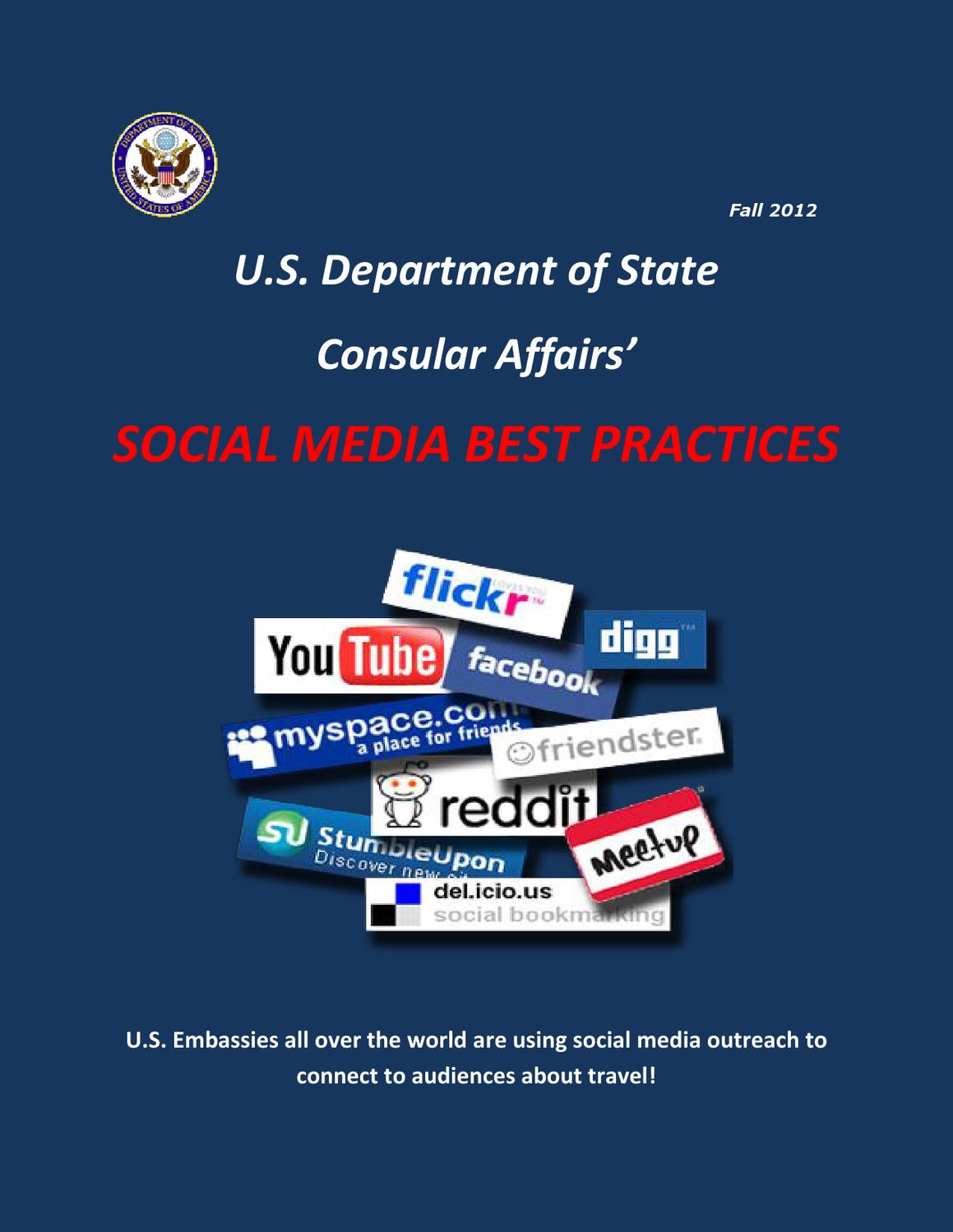 Consular affairs 39 social media best practices by jewel for Consular services