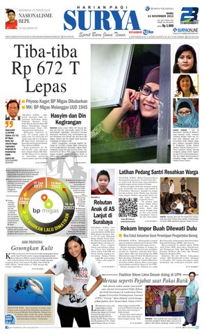 5a9e1f3424 E-paper Surya Edisi 14 November 2012 by Harian SURYA - issuu