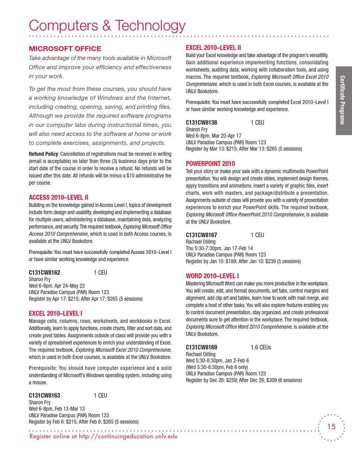 Spring 2013 Unlv Continuing Education Catalog By Unlv Division Of Educational Outreach Issuu P.o box 11 s4, down town, 90th street, 5th compound, new cairo, egypt. issuu