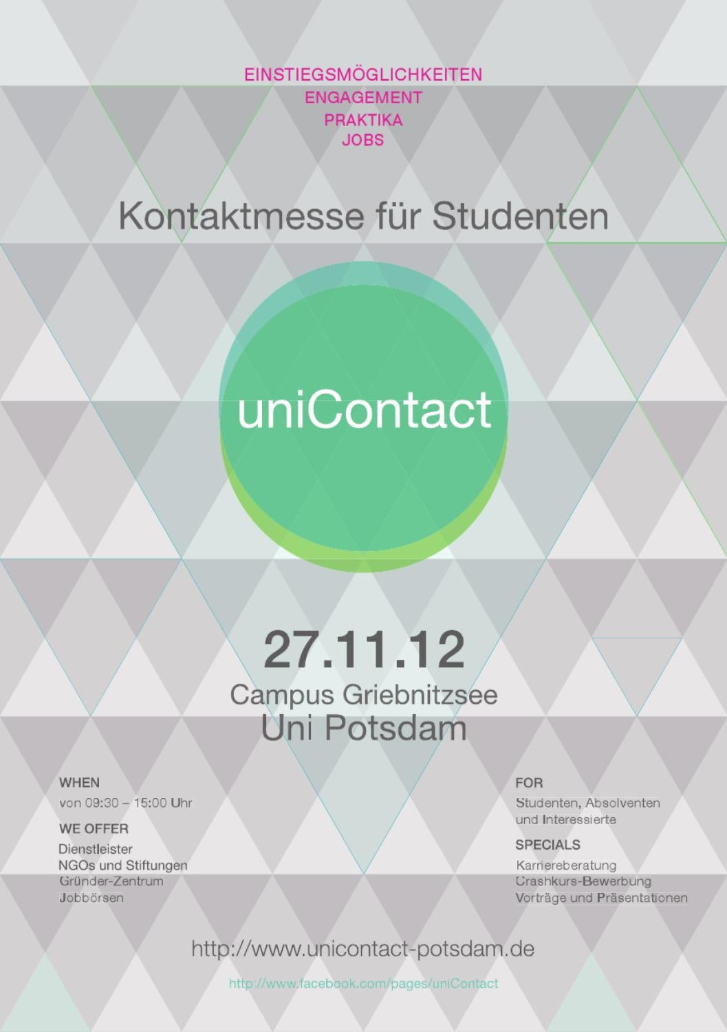 unicontact messeguide by uni contact issuu - Potsdam Uni Bewerbung