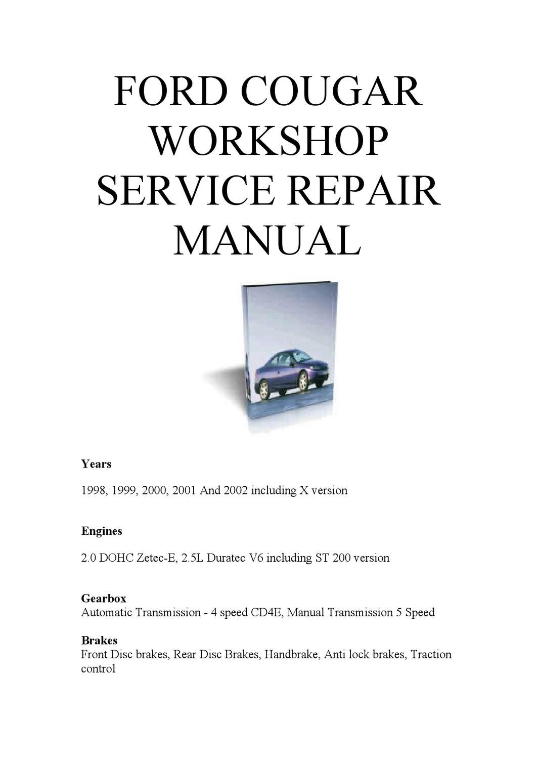 •ford cougar repair manual pdf by Mark James - issuu