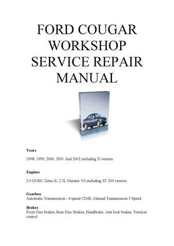 2001 mercury cougar service manual
