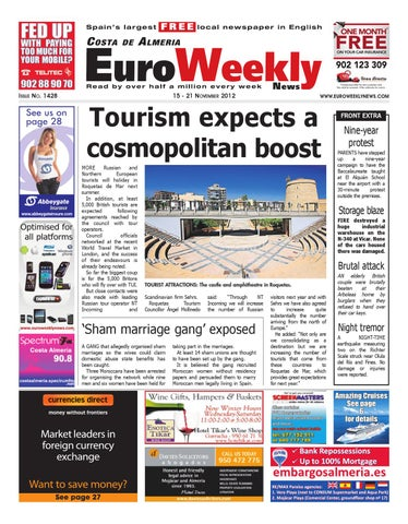 Costa de almeria 15 21 november 2012 issue 1428 by euro weekly page 1 fandeluxe Choice Image