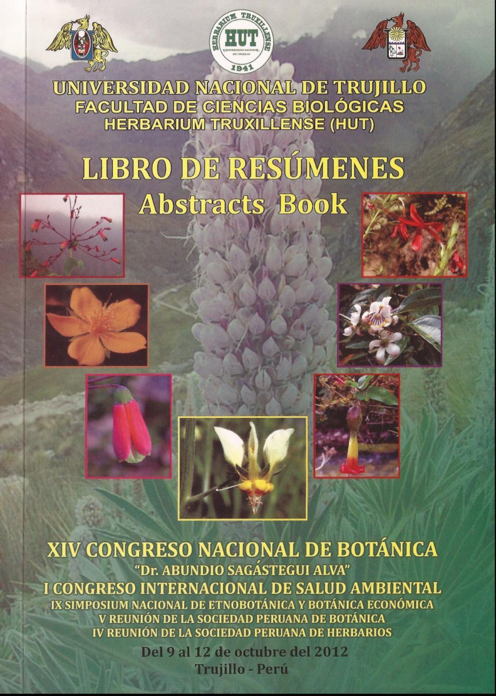 Libro de Resúmenes XIV CONABOT 2012, Trujillo, Perú by Eric Frank ...