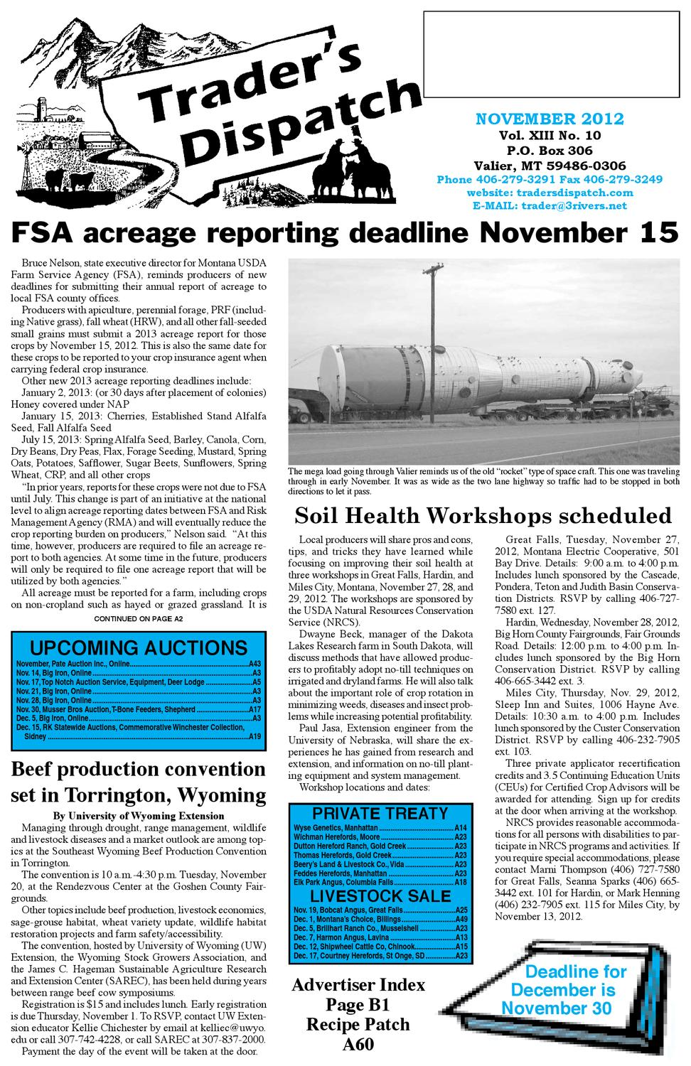 November 2012 by The Trader's Dispatch - issuu