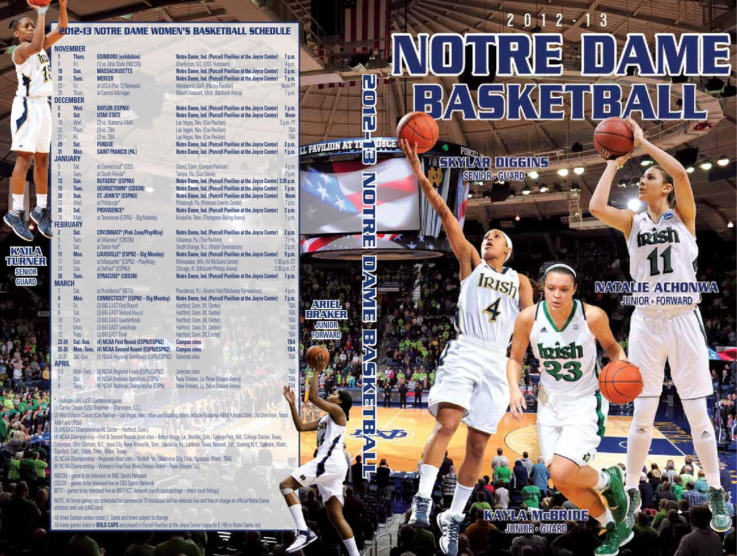 b4439924b 2012-13 Notre Dame Women s Basketball Media Guide by Chris Masters - issuu
