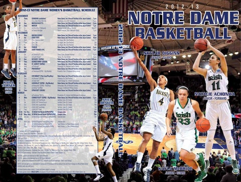 2012-13 NOTRE DAME WOMEN S BASKETBALL SCHEDULE NOVEMBER 1 9 18 20 23 29 a147bf61f