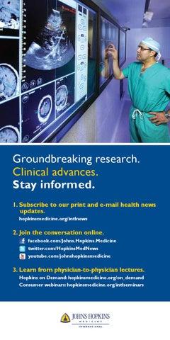 Johns Hopkins Medicine International physician inserts by
