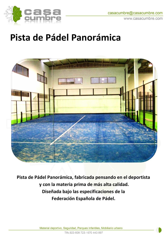 Catalogo pista de padel panoramica by pablo nu ez issuu - Pista padel panoramica ...